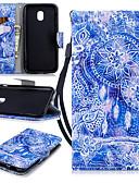 halpa Puhelimen kuoret-Etui Käyttötarkoitus Samsung Galaxy J3 (2017) Lomapkko / Korttikotelo / Iskunkestävä Suojakuori Uni sieppari Kova PU-nahka