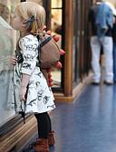 Χαμηλού Κόστους Βρεφικά σετ ρούχων-Μωρό Κοριτσίστικα Ενεργό Στάμπα Μακρυμάνικο Πολυεστέρας Φόρεμα Μπεζ