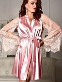 رخيصةأون -نسائي مثير ثوب / ساتان و حرير / مثير جداً ملابس نوم دانتيل, ألوان متناوبة / لون الصلبة