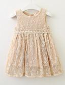 お買い得  女児 ドレス-幼児 女の子 活発的 日常 幾何学模様 ノースリーブ 膝丈 ポリエステル ドレス ブルー