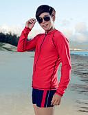 お買い得  メンズフーディー&スウェットシャツ-XUHAI 男性用 ラッシュガード UVサンプロテクション 高通気性 速乾性 ナイロン エラステイン 長袖 スイムウェア ビーチウェア ラッシュガード トップス ソリッド フロントファスナー 水泳 サーフィン ウォータースポーツ / 伸縮性あり