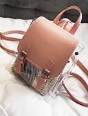 저렴한 여성 점프수트&롬퍼스-여성용 가방 우레탄 배낭 지퍼 용 일상 여름 블랙 / 블러슁 핑크 / 카키