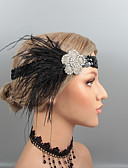 cheap Historical & Vintage Costumes-Feathers Headbands / Headpiece / Hair Accessory with Rhinestone / Crystal / Feather 1 pc Wedding / Party / Evening Headpiece