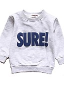 abordables Sets de Vêtements pour Garçon Bébés-bébé Garçon Actif / Basique Quotidien / Sports Couleur Pleine Manches Longues Normal Coton Pull à capuche & Sweatshirt Gris Clair / Bébé