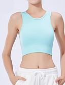 hesapli Sport Bras Collection-Kadın's AB / ABD Beden Dokunma Duyusu Tam Kaplama Sutyenler Spor Sutyen Solid Polyester