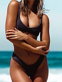 cheap Bikinis-Women's Basic Strap White Black Red Cheeky Bikini Swimwear - Solid Colored Backless S M L White / Super Sexy