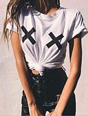 baratos Moletons com Capuz e Sem Capuz Femininos-t-shirt asiático do tamanho das mulheres - pescoço redondo geométrico