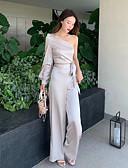 abordables Robes de Demoiselles d'Honneur-Combinaisons Une Epaule Longueur Sol Satin Robe de Demoiselle d'Honneur  avec par LAN TING Express