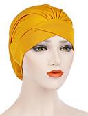 hesapli Kadın Şapkaları-Kadın's Temel sevimli Stil Polyester Kıvırılan Şapka Solid Tüm Mevsimler Şarap Haki Navy Mavi