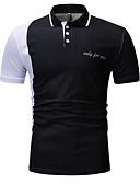abordables Camisetas y Tops de Hombre-Hombre Polo, Cuello Camisero Delgado Bloques Negro XL