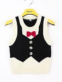 Χαμηλού Κόστους Μπουφάν και παλτό για αγόρια-Παιδιά / Νήπιο Αγορίστικα Βασικό Patchwork Φιόγκος Αμάνικο Ακρυλικό Μπλούζα Μαύρο