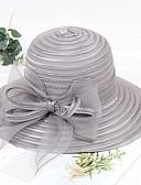 hesapli Kadın Şapkaları-Kadın's Kentucky Derby Actif Temel sevimli Stil Hasır Örümcek Ağı Hasır Şapka Solid Tüm Mevsimler Gri Haki Açık Mavi