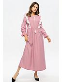 cheap Arabian Clothing-Women's Swing Dress Pink L XL XXL