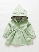 levne Dětské bundičky a kabátky-Dítě Dívčí Základní Jednobarevné Standardní Bavlna Tenčkoty Trávová zelená / Toddler