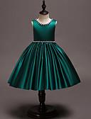 זול שמלות לבנות-שמלה עד הברך ללא שרוולים אחיד וינטאג' / מתוק בנות ילדים / פעוטות