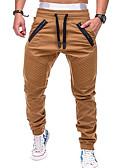 povoljno Muške duge i kratke hlače-Muškarci Aktivan / Osnovni Chinos Hlače - Jednobojni Sive boje Vojska Green Žutomrk XL XXL XXXL