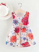 זול שמלות לתינוקות-שמלה ללא שרוולים פרחוני בנות תִינוֹק