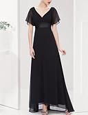 levne Maxi šaty-Dámské Základní Štíhlý Pouzdro Šaty - Jednobarevné Maxi Do V