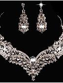 abordables Joyas de Moda-Mujer Legierung Cristal Collares / Conjuntos de Joyería