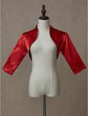 Χαμηλού Κόστους Φορέματα για κορίτσια-3/4 Μήκος Μανικιού Σατέν Γάμου / Πάρτι / Βράδυ Γυναικείες εσάρμπες Με Μονόχρωμο Μπολερό