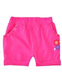 cheap Girls' Pants & Leggings-Kids Toddler Girls' Active Basic Floral Print Cotton Polyester Shorts Fuchsia