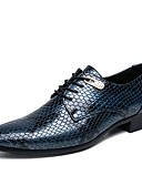 levne Pánská tílka-Pánské Společenské boty PU Jaro Business / Bristké Oxfordské Voděodolný Černá / Modrá / Svatební / Party