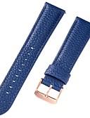abordables Relojes Automáticos-piel genuina / Piel / Piel de becerro Ver Banda Correa para Azul 17 cm / 6,69 pulgadas / 18cm / 7 Pulgadas / 19cm / 7.48 Pulgadas 1cm / 0.39 Pulgadas / 1.2cm / 0.47 Pulgadas / 1.3cm / 0.5 Pulgadas