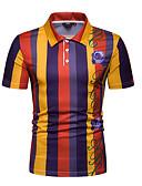 cheap Men's Shirts-Men's Polo - Color Block Shirt Collar Orange L