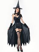 halpa Zentai-noita Mekot Cosplay-Asut Hatut Aikuisten Naisten Hameet Halloween Halloween Karnevaali Masquerade Festivaali / loma Plyysi Musta Karnevaalipuvut Yhtenäinen