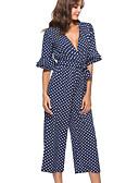 cheap Women's Jumpsuits & Rompers-Women's Blue Black Wine Wide Leg Romper, Solid Colored M L XL