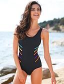 olcso One-piece swimsuits-Női Boho Medence Fekete Merész Egy részes Fürdőruha - Színes Törzsi Nyitott hátú M L XL Medence