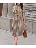billige Kjoler med trykk-kvinners midtskjede kjole gul s m l xl