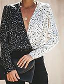 זול חולצה-גיאומטרי מידות גדולות חולצה - בגדי ריקוד נשים שחור M