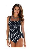 cheap One-piece swimsuits-Women's Basic Black Dark Gray Light Blue One-piece Swimwear - Solid Colored XXL XXXL XXXXL Black