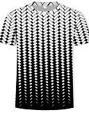 abordables Camisetas y Tops de Hombre-Hombre Básico / Chic de Calle Estampado Camiseta, Escote Redondo Geométrico / 3D Negro XL / Manga Corta