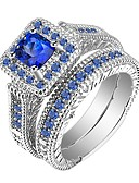 cheap Robes & Sleepwear-Men's Women's Ring Ring Jewelry Blue For Gift Daily 2pcs
