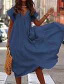 お買い得  赤ちゃん ドレス-女性用 エレガント スウィング ドレス ソリッド ミディ