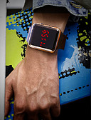 povoljno Digitalni satovi-Muškarci Ručni satovi s mehanizmom za navijanje Šiljci za meso Silikon Crna Vodootpornost LCD Šiljci za meso Moda Šarene - Pink Crvena Rose Gold