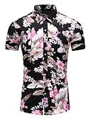 abordables Camisas de Hombre-Hombre Estampado Camisa Floral