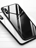 cheap iPhone Cases-Case For Apple iPhone XS / iPhone XR / iPhone XS Max Shockproof / Transparent Back Cover Solid Colored Hard Tempered Glass