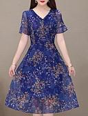 levne Svatební bolerka-Dámské Sofistikované Elegantní Šifón Šaty - Geometrický, Plisé Tisk Maxi