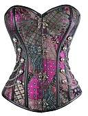 cheap Bikinis-Women's Drawstring Overbust Corset - Multi Color / Sexy / Punk