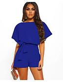 povoljno Ženski jednodijelni kostimi-Žene Aktivan Kratke hlače Hlače - Jednobojni Crn Lila-roza Žutomrk M L XL