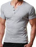 billige T-shirts og undertrøjer til herrer-V-hals Tynd Herre - Ensfarvet T-shirt Rød L