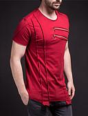 preiswerte Exotische Herrenunterwäsche-Herrn Solide EU- / US-Größe T-shirt, Rundhalsausschnitt Schwarz XL