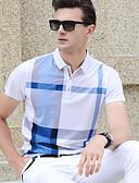 hesapli Erkek Gömlekleri-Erkek Pamuklu Gömlek Yaka Polo Desen, Kareli Havuz