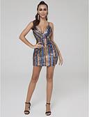 preiswerte Cocktailkleider-Eng anliegend Tiefer Ausschnitt Kurz / Mini Pailletten Cocktailparty Kleid mit Paillette durch TS Couture®