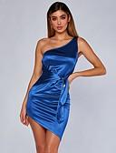abordables Vestidos de Mujer-Mujer Corte Bodycon Vestido Asimétrico Un Hombro