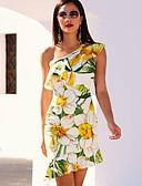 cheap Print Dresses-Women's Sheath Dress - Floral Print Green M L XL