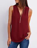 povoljno Majica-Veći konfekcijski brojevi Bluza Žene Jednobojni V izrez Dusty Rose Svjetloplav XXXL